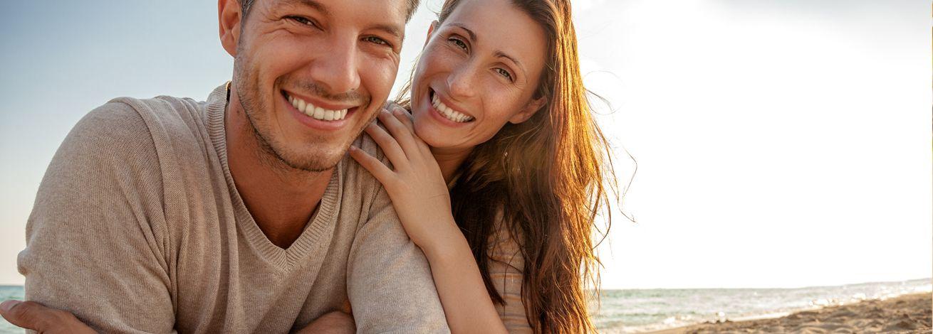 meer glückliches paar